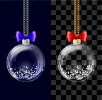 Glass transparent Christmas ball