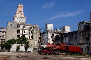 Dampflok in Havanna,Kuba