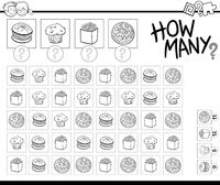 counting food objects coloring book