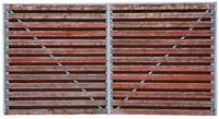 Wooden red gate