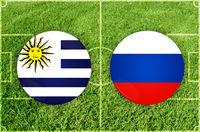 Uruguay vs Russia football match