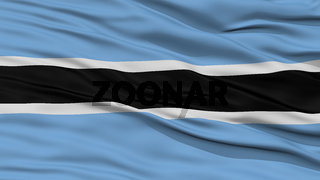 Closeup Botswana Flag
