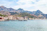 Ionian sea near waterfront of Giardini Naxos town