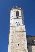Church tower in Spanish Llagostera