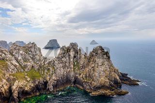 Rocky coastline of Brittany, France