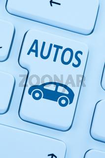 Auto Fahrzeug Autos kaufen verkaufen online Computer blau web