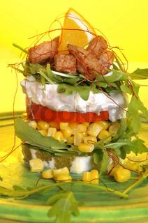 Rucola Hähnchen Salat