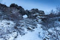 Dimmuborgir im Februar -Island-