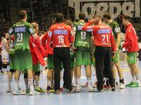 Auszeit SC Magdeburg  beim DKB-Handball Punktspiel SC Magdeburg - Frisch Auf Göppingen am 22.02.2018 in Magdeburg