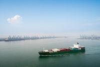 modern harbor in tianjin