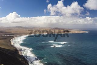 La Caleta de Famara und Feuerberge, Lanzarote