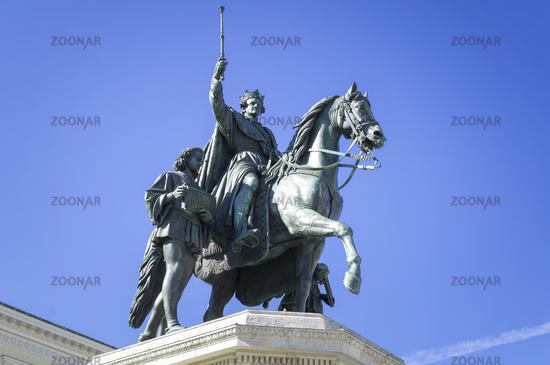 statue of King Ludwig the first in Munich