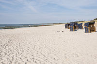 Beach  and beach chairs at Ahrenshoop, Mecklenburg-Vorpommern, Germany