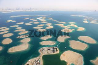 Dubai The World Welt Insel Inseln Panorama Luftaufnahme Luftbild