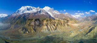 Panoramic Annapurna Himalayan Range Manang Valley