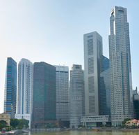 Singapore Downtown skyscrapers square
