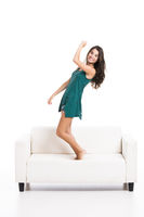 Dancing on the sofa