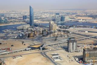 Dubai Creek D1 Tower Luftaufnahme Luftbild