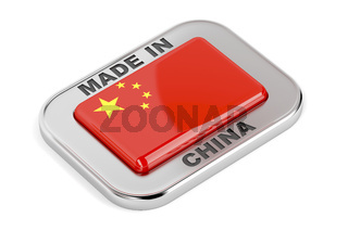 Made in China, silver badge