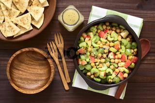 Chickpea, Celery, Grape and Apple Salad