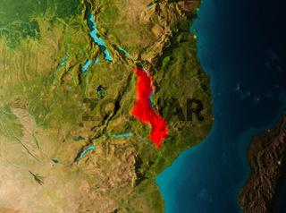 Orbit view of Malawi