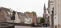 The Belfry Tower of Bruges.Panoramic view