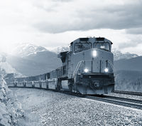 Long freight train.