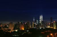 Kuala Lumpur night landscape