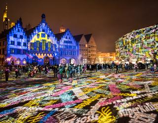 Luminale 2018 in Frankfurt, Römerberg
