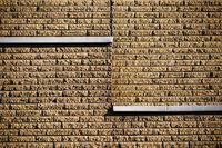 Raue Klinkersteinfassade