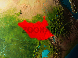 Orbit view of South Sudan