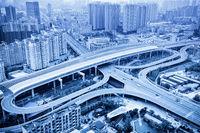 blue city interchange closeup