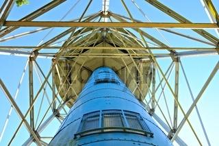 von unten der Ahlener Wasserturm Industriedenkmal Stadt Ahlen