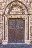 San Nicolò di Bari Church Door Taormina, Italy