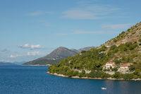 Residential area on coasline of Dubrovnik, Croatia