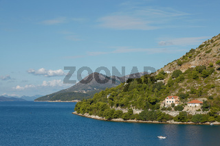 Residential area on coasline of Dubrovnik, Croatia