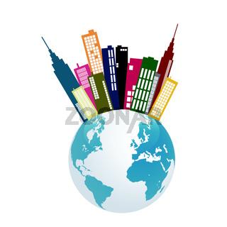 City Earth Illustration