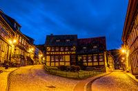 Stolberg im Harz zur blauen Stunde