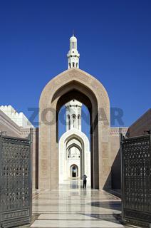 Eingang zur Sultan Qaboos Moschee, Muscat, Oman