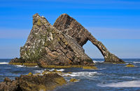 Der Felsen Bow Fiddle Rock, Portknockie, Moray Firth, Schottland, Grossbritannien