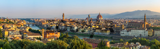 Florence panorama city skyline, Italy