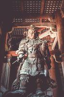 Komokuten statue in Daibutsu-den Todai-ji temple, Nara, Japan