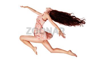 flying girl isolated