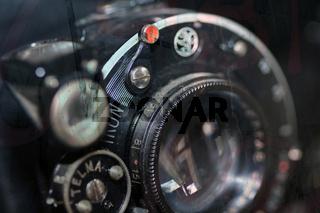 Balgenkamera Objektiv antik
