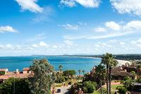 Breathtaking view from Whales Peninsula (Punta Ballena), close to Punta del Este resort town, Maldonado, Uruguay