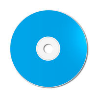Blue CD - DVD mockup template isolated on white