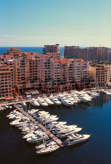 Fontvieille district and marina in Monte Carlo