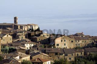 Montalcino am Morgen, Toskana, Italien