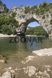 Pont, d'arc in der Ardeche, Südfrankreich