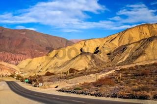 Road through the Quebrada de Humahuaca